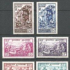 Sellos: ARGELIA COLONIA FRANCESA YVERT NUM. 319/324 SERIE COMPLETA NUEVA SIN GOMA. Lote 293949923