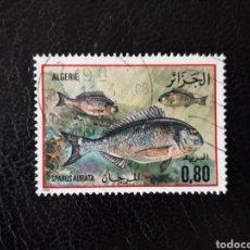 Francobolli: ARGELIA YVERT 832 SELLO SUELTO USADO 1985 FAUNA. PECES. DORADA PEDIDO MÍNIMO 3€. Lote 296630243