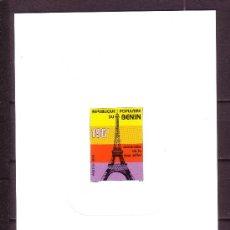 Sellos: BENIN PL 673*** - AÑO 1989 - CENTENARIO DE LA TORRE EIFFEL. Lote 28853009