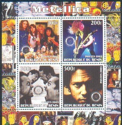 BENIN ** & METALLICA CLÁSSICOS DO ROCK (35) (Sellos - Extranjero - África - Benin)