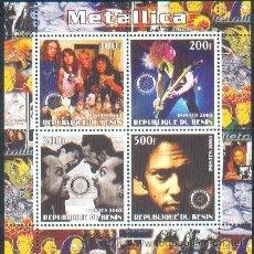 Sellos: BENIN ** & METALLICA CLÁSSICOS DO ROCK (35) . Lote 38411409