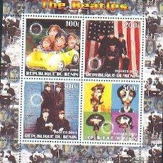 Sellos: BENIN ** & THE BEATLES CLÁSSICOS DO ROCK (37) . Lote 38411446
