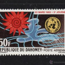 Sellos: DAHOMEY AEREO 29** - AÑO 1965 - DIA METEOROLOGICO MUNDIAL. Lote 54938671