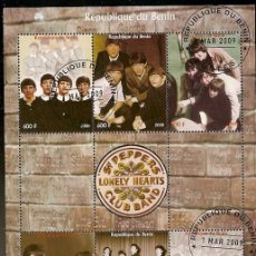Sellos: BENIN & THE BEATLES 2003 (29). Lote 57050518