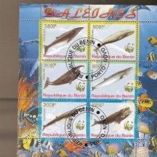 Sellos: BENIN & FAUNA MARÍTIMA, CETÁCEOS 2008 (1). Lote 58473386