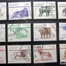 Sellos: SELLOS DE BENIN SERIE DE FAUNA AFRICANA DE 1999. Lote 63156764