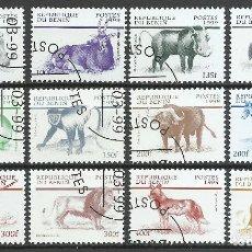 Sellos: BENIN - 1999 - MICHEL 1133/1144 - USADO. Lote 85906028