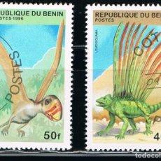 Sellos: REPUBLICA DE BENIN - LOTE DE 2 SELLOS - ANIMALES (USADO) LOTE 2. Lote 106623063