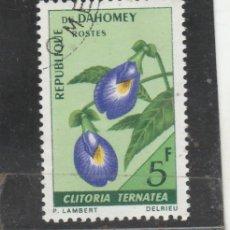 Sellos: BENIN-DAHOMEY 1967 - YVERT NRO. 267 - USADO - MATASELLO DE FAVOR. Lote 114626695