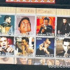 Sellos: BENIN & ROBBIE WILLIAMS . Lote 118569179