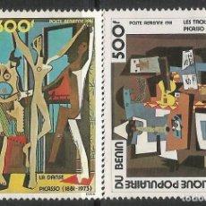 Sellos: BENIN 1981 - YT 298/9 - CENTENARIO DE PICASSO - MNH**. Lote 119456615