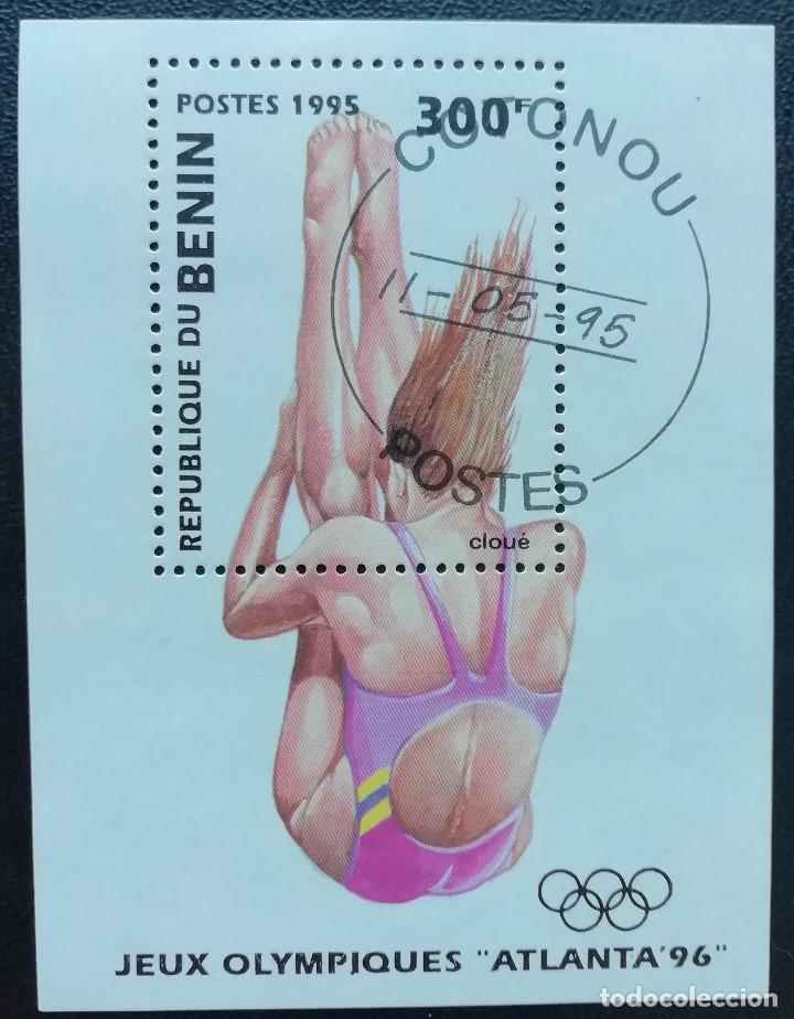 1995. DEPORTES. BENIN. HB 29 A. SALTOS NATACIÓN. PRE-JUEGOS OLÍMPICOS ATLANTA`96. NUEVO. (Sellos - Extranjero - África - Benin)