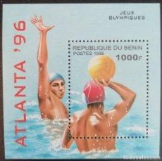Sellos: 1996. DEPORTES. BENIN. HB 29 G. WATERPOLO. JUEGOS OLÍMPICOS ATLANTA. NUEVO.. Lote 153088366