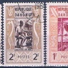 Sellos: BENIN - DAHOMEY 1961 - YVERT 159 + 160 + 192 + TAXAS 37 + 38 ( USADOS ). Lote 155246042