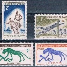 Sellos: BENIN - DAHOMEY 1963 - YVERT 193 + 194 + TAXAS 33 + 34 HMN ( ** ). Lote 155246886