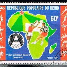Sellos: BENIN 103, JUEGOS DEPORTIOS AFRICANOS EN ARGEL, 1978, USADO. Lote 170527180