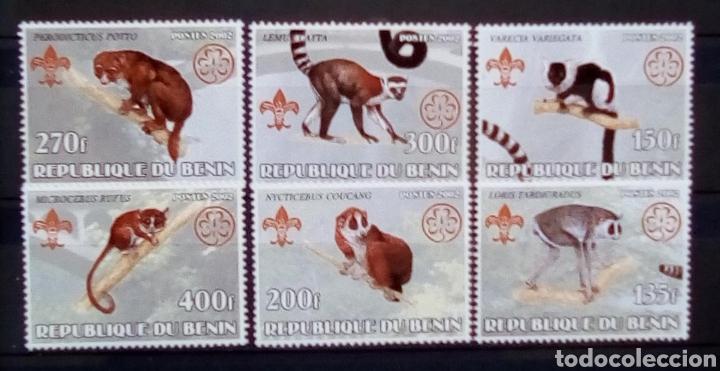 BENIN LEMURES SERIE DE SELLOS NUEVOS (Sellos - Extranjero - África - Benin)