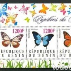 Sellos: BENIN MARIPOSAS HOJA BLOQUE DE SELLOS NUEVOS. Lote 188684363