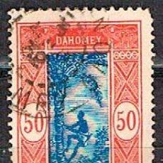 Sellos: DAHOMEY (BENIN) Nº 85, HOMBRE SUBIENDOSE A UNA PALMERA, USADO (AÑO 1925). Lote 190006278