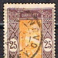 Sellos: DAHOMEY (BENIN) Nº 73, HOMBRE SUBIENDOSE A UNA PALMERA, USADO (AÑO 1917). Lote 190006380