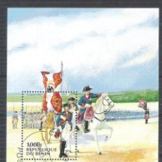 Sellos: BENIN 1997 SCOUT, PERF. SHEET, USED AB.010. Lote 198263552