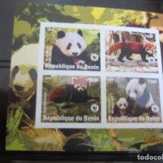 Sellos: BENIN 2008 HOJA BLOQUE WWF NUEVO. Lote 198309961