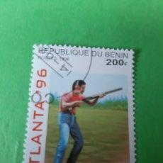 Sellos: REPÚBLICA BENIN DEPORTE TIRO PLATO ATLANTA 96. Lote 200539091