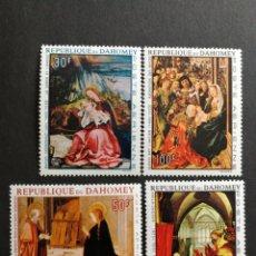 Sellos: DAHOMEY, N°67/70 MNH, PINTURA RELIGIOSA 1967 (FOTOGRAFÍA REAL). Lote 205299832