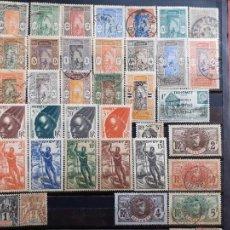 Sellos: DAHOMEY FRANCÉS. 36 SELLOS. Lote 205576731