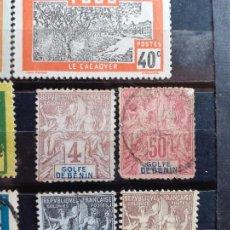 Sellos: GOLFE DE BENIN. 2 SELLOS. Lote 205577338