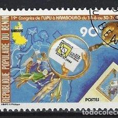 Sellos: BENÍN 1984 - 19º CONGRESO DE LA UPU - SELLO USADO. Lote 205716776