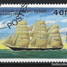 """Sellos: BENÍN 1996 - BARCOS, """"TERMOPILAS"""". - SELLO USADO. Lote 205717645"""