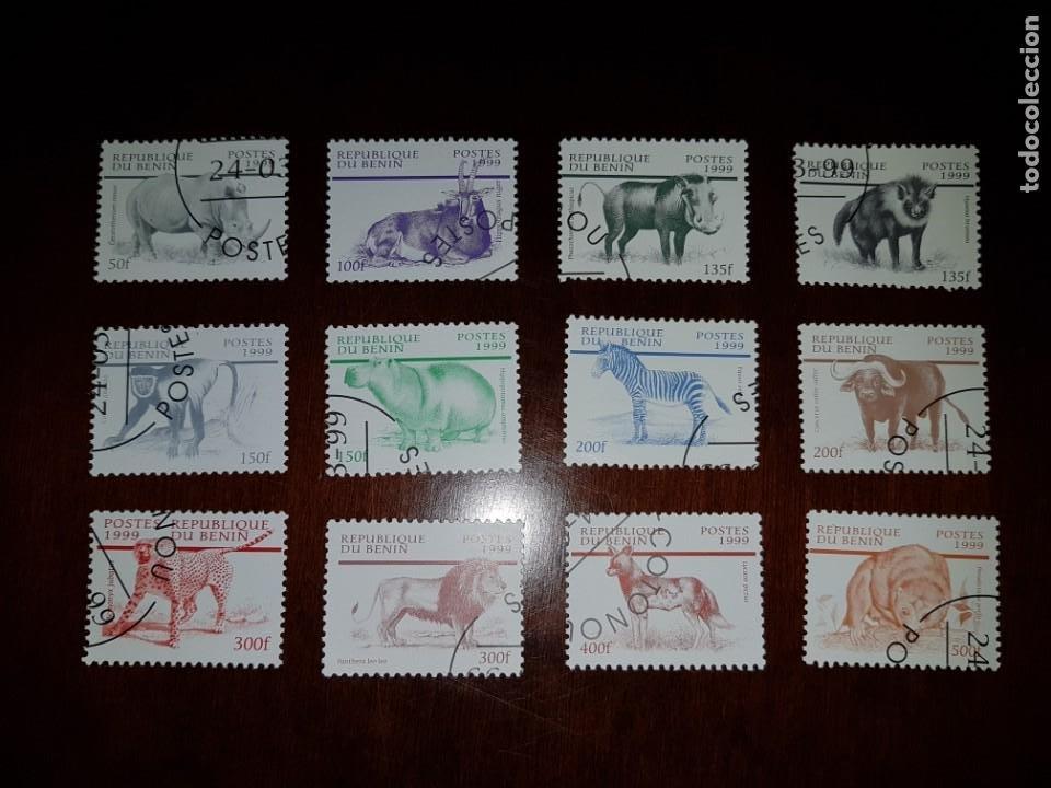 SELLOS USADOS BENIN - ANIMALES (Sellos - Extranjero - África - Benin)