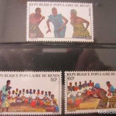 Sellos: BENIN 1980 3 V. NUEVO. Lote 216550173