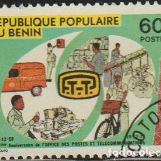 Sellos: BENIN 1979 SCOTT 446 SELLO * TELECOMUNICACIONES POSTAL SORTING AND DISTRIBUTION MICHEL 198 YVERT 464. Lote 216729108
