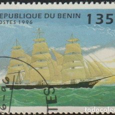 "Sellos: BENIN 1996 SCOTT 854 SELLO * BARCOS SAILING SHIPS ""THE TORRENT"" AMERICAN THREE-MASTER MICHEL 803. Lote 216729556"