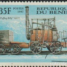 Sellos: BENIN 1997 SCOTT 1022 SELLO * TRENES LOCOMOTORAS PUFFING BILLY, 1813 MICHEL 996 YVERT 786 DAHOMEY. Lote 216729737