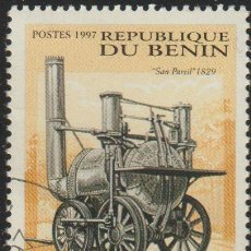 Sellos: BENIN 1997 SCOTT 1027 SELLO * TRENES LOCOMOTORAS SANS PAREIL, 1829 MICHEL 1001 YVERT 791 BENIM DAHOM. Lote 216729807