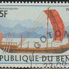 Sellos: BENIN 1997 SCOTT 1040 SELLO * BARCOS SAILING SHIPS EGYTIAN MICHEL 971 YVERT 768 BENIM DAHOMEY STAMPS. Lote 216729862