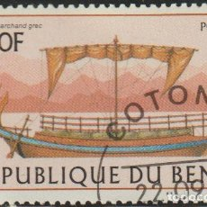 Sellos: BENIN 1997 SCOTT 1041 SELLO * BARCOS SAILING SHIPS GREEK MICHEL 972 YVERT 769 BENIM DAHOMEY STAMPS. Lote 216729927