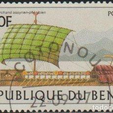 Sellos: BENIN 1997 SCOTT 1042 SELLO * BARCOS SAILING SHIPS ASSYRIAN-PHOENICIAN MICHEL 973 YVERT 770 DAHOMEY. Lote 216729962