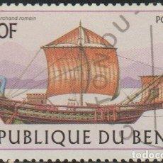 Sellos: BENIN 1997 SCOTT 1043 SELLO * BARCOS SAILING SHIPS ROMAN MICHEL 974 YVERT 771 BENIM DAHOMEY STAMPS. Lote 216730007