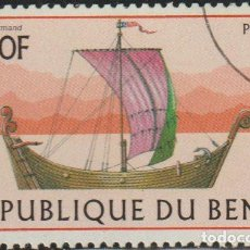 Sellos: BENIN 1997 SCOTT 1044 SELLO * BARCOS SAILING SHIPS NORMAN MICHEL 975 YVERT 772 BENIM DAHOMEY STAMPS. Lote 216730032