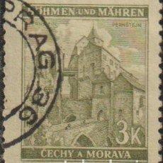 Sellos: BOHEMIA Y MORAVIA 1941 SCOTT 53C SELLO º PAISAJES PERNSTEIN / PERNŠTEJN MICHEL 72A YVERT 55 STAMP. Lote 216730337