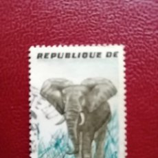 Sellos: REPUBLICA D´IVORE - COSTA DE MARFIL - VALOR FACIAL 30 F - ELEFANTE. Lote 222088475