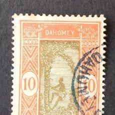 Sellos: 1925-1933 DAHOMEY (BENÍN) HOMBRE SUBIÉNDOSE A LA PALMERA. Lote 223117027