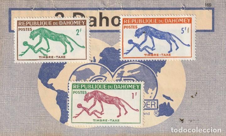 DAHOMEY 1963 SEIE PANTERA Y HOMBRE .DAHOMEY (ACTUAL BENIN). (Sellos - Extranjero - África - Benin)