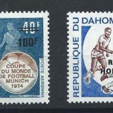 Sellos: DAHOMEY PA N°221/22** (MNH) 1974 - COUPE DU MONDE DE FOOTBALL À MUNICH. Lote 261564440