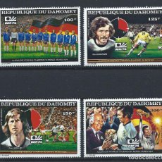 Sellos: DAHOMEY PA N°225F/25J** (MNH) 1974 - COUPE DU MONDE DE FOOTBALL À MUNICH. Lote 261566330