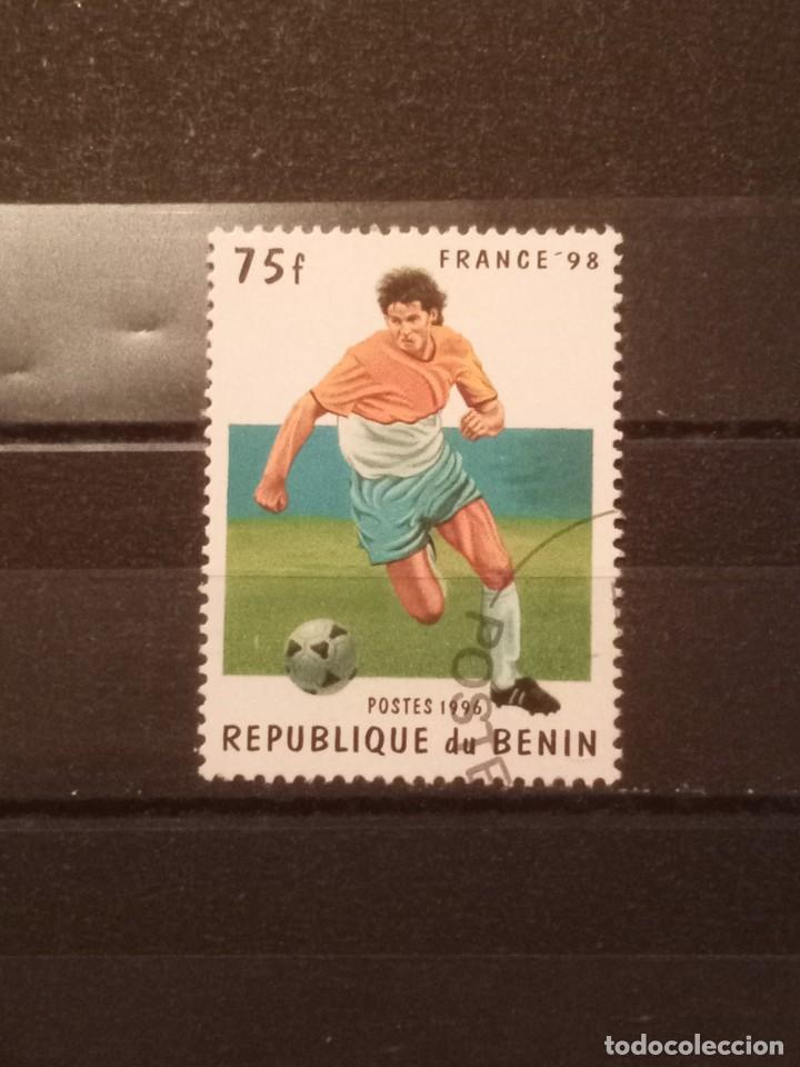 SELLO BENÍN- FUTBOL FT3 (Sellos - Extranjero - África - Benin)